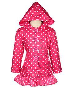 "Pink Platinum ""Absolutely Dotty"" Raincoat (Sizes 4 - 6X)"