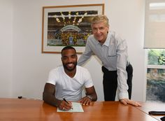 Wenger and Lacazette.