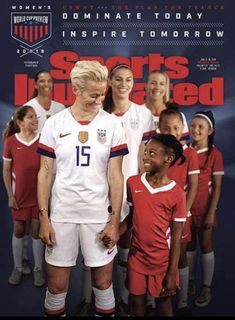 women's national team Sports Illustrated cover and issue. Usa Soccer Team, Soccer Pro, Messi Soccer, Girls Soccer, Soccer Boys, Soccer Players, Real Soccer, Football Girls, Soccer Stars