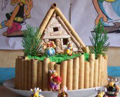 Gâteau hutte gauloise d'Astérix et Obélix