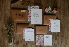 ROBERTA Wedding Invitation Letterpress SAMPLE by AllieRuth on Etsy