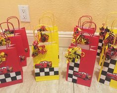 20 Lightning McQueen and Mater Party Favor Bags