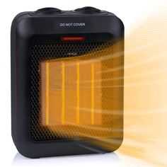 Portable Electric Space Heater 1500W/750W, Ceramic Room Heater with Tip-Over and Overheat Protection, 200 sq. Ft Fast Heating for Indoor Desk Office Floor, Black Best Space Heater, Portable Space Heater, Electric Room Heaters, Cool Air Fans, Hanging Fireplace, Office Floor, Desk Office, Desktop, Black