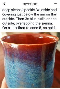 Glazes For Pottery, Ceramic Pottery, Pottery Art, Pottery Designs, Pottery Ideas, Throw Like A Girl, High School Ceramics, Amaco Glazes, Glaze Recipe