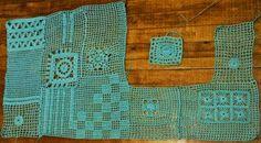 Crochet Patterns tentar: Crochet de forma livre retalhos inspirado as pessoas queda livre Capuz - Gráficos e Instruções