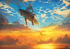A selection of the illustrations from the portfolio of the Russian artist RHADS, who leads us into a poetic and surreal world, through amazingly beautiful an
