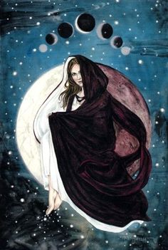 she is like the moon, a part of her always stays hidden