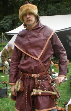 Viking leather tunic