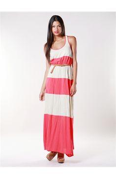 Colorblock Tank Maxi Dress