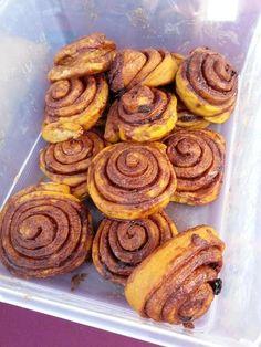 Sweet potato cinnamon buns from Worke's Kitchen, Winter Markets 2016 #ottawafarmersmarket #lansdownefarmersmarket