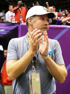 Celebrity Sightings at 2013 Superbowl at the #Superdome in New Orleans on 2/3/13: Will Ferrell