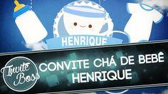 Convite Animado Chá De Bebê (Sombra) - Henrique