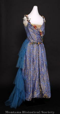 1916 dress donated by Jane Power Tobin, worn by Mrs. Charles (Mabel) Power.
