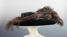 Ostrich feathers were the decoration of choice for the huge hats that dominated fashion from about 1908 until the onset of World War I.