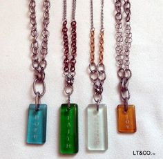 The complete collection of the interchangable necklaces