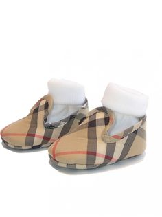 Burberry Kids Burberry baby nova beige check pre-walker shoes & box - gift?