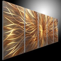 Original Metal Wall Art Modern 3D Painting Sculpture Indoor Outdoor Decor Modern Painting Scupture wall by tomouk on Etsy https://www.etsy.com/listing/197621007/original-metal-wall-art-modern-3d
