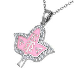 Alpha Kappa Alpha Ivy Leaf Silver Necklace (AKA-P011)