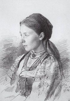 Ilya Repin, Portrait of M.I. Artsybusheva 1880 on ArtStack #ilya-repin #art