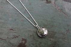 Faceted Pyrite Necklace by Bohemian Jones
