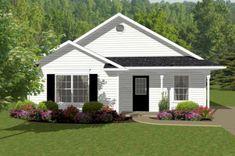 Cottage Style House Plan - 2 Beds 1.00 Baths 856 Sq/Ft Plan #14-239 Exterior - Front Elevation - Houseplans.com