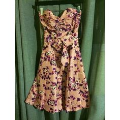 EXPRESS FLORAL DRESS 8 of 10 Condition. The String that holds the belt on the Left side of the dress needs to be resewn, otherwise beautiful dress. Express Dresses Strapless