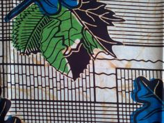 African Fabric Cotton Wax Print Sold By Yard. £4.50, via Etsy.