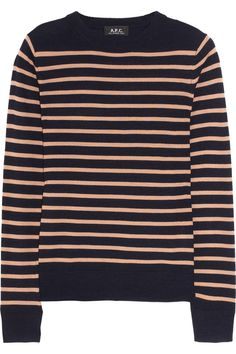 striped fine-knit wool sweater from a.p.c.