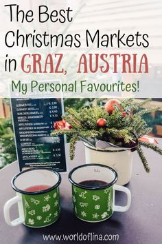 Best Christmas Markets in Graz – My Personal Favourites! – World of Lina – Best Europe Destinations Europe Destinations, Europe Travel Guide, Amazing Destinations, Holiday Destinations, Budget Travel, Best Christmas Markets, Christmas Travel, Holiday Travel, Christmas Fun