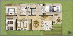 casa 4 quartos terreno de 10m largura - Pesquisa Google