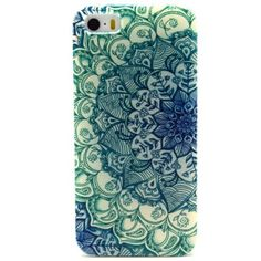JIAXIUFEN Green Totem Flower Clear TPU Silicone Gel Back Cover Skin Soft Case for iPhone 5 5S: Amazon.co.uk: Computers & Accessories
