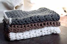 Hæklet karklud, opskrifter på hulmønstrede karklude Diy And Crafts, Crochet, Threading, Ganchillo, Crocheting, Knits, Chrochet, Quilts