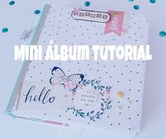 Mini album cascada tutorial / scrapbook tutorial