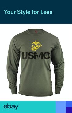 413b2ada5 Mens long sleeve shirt USMC decal US Marine Corps gifts tactical gear  clothing Tactical Shirt,