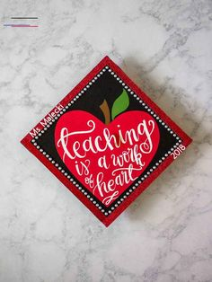 Any future teachers out there? This graduation cap was designed and created by M… Any future teachers out there? This graduation cap was designed and created by M…,graduation cap inspo Any future teachers out. Teacher Graduation Gifts, Custom Graduation Caps, Graduation Cap Toppers, Graduation Cap Designs, Graduation Cap Decoration, Graduation Diy, Grad Cap, Graduation Photoshoot, Graduation Pictures