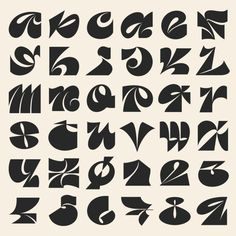 fonts/typographie for Days of Type by Carmen Nácher (Germany/Allemagne) Graphic Design Posters, Graphic Design Typography, Lettering Design, Graphic Design Illustration, Graffiti Lettering, Typography Letters, Cursive Letters, Typographie Fonts, Retro Font