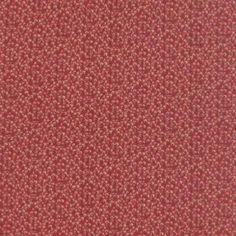 Tissu  Moda French General - Petites Brindilles - Tissu Patchwork  rouge