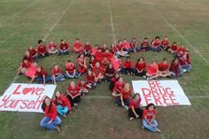 """""""This contest brought even more awareness to Red Ribbon Week and it lasted for a longer period of time. If it can prevent one person from using drugs and . Middle School Counseling, Pta School, School Clubs, School Counselor, Leadership Activities, Group Activities, Pumpkin Decorating Contest, Kindergarten Social Studies, Red Ribbon Week"""