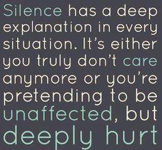 Silence has a deep...