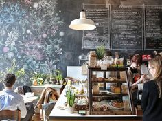 The amazing chalkboard art at Astro Coffee in Detroit. | 31 Coffeeshops And Cafés You Wish You Lived In