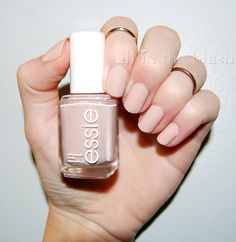 Essie Topless & Barefoot nail polish review - amazing opaque nude nail polish via all in the blush
