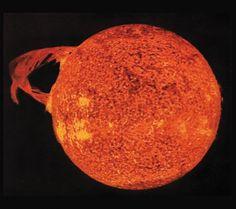 A Solar Flare:  as seen from Skylab, 1973 by NASA via digitaltrends #Astronomy #Solar_Flare #NASA