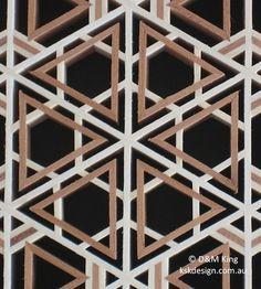 Yuki-gata kikkō pattern.