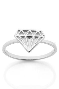 GOOD AS GOLD — Meadowlark Diamond Stacker Ring, silver    http://www.goodasgold.co.nz/collections/meadowlark