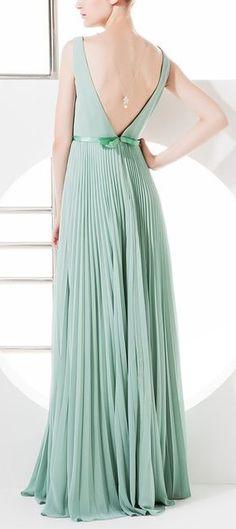 Mint Pleated Dress//