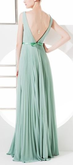 Mint Pleated Dress//