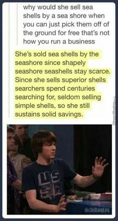 Sally's seashells...  The more you know