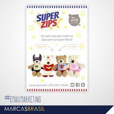 E-mail Marketing – Zip >Desenvolvimento de e-mail marketing para divulgação da linha de produtos Super Zips da empresa Zip < #EmailMkt #marcasbrasil #agenciamkt #publicidadeamericana