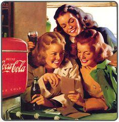 Coca-Cola at the Photo by Wallcoca. Coca Cola Poster, Coca Cola Ad, World Of Coca Cola, Always Coca Cola, Coca Cola Bottles, Pepsi, Retro Ads, Vintage Advertisements, Vintage Ads