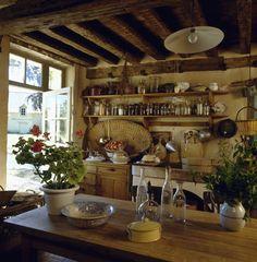 Kuchnia w prowansalskiej chatce